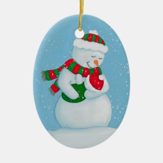 Snow Mum and Snow Baby Christmas Christmas Ornament