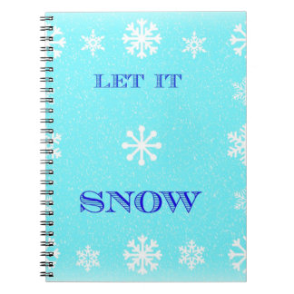 Snow Must Go On Spiral Notebook
