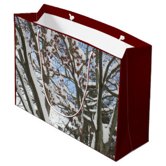 Snow on a Japanese Maple --- Large Gift Bag