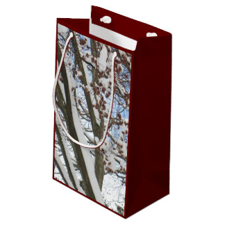 Snow on a Japanese Maple --- Small Gift Bag