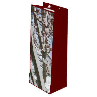 Snow on a Japanese Maple --- Wine Gift Bag