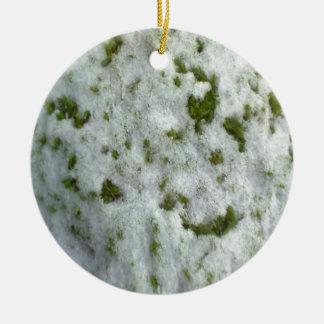 Snow on Grass Christmas Ornament