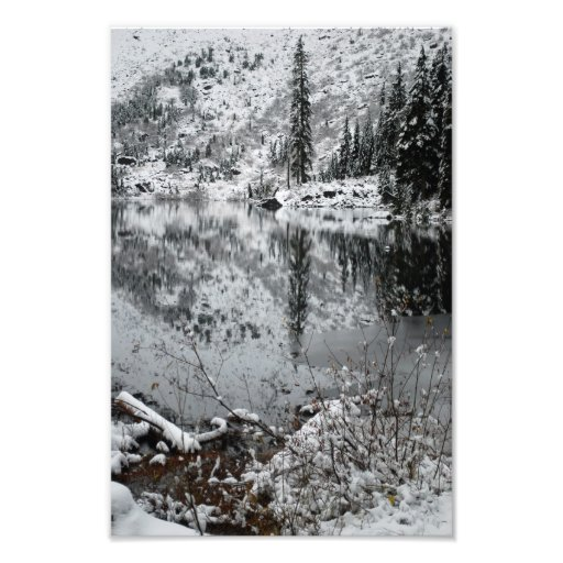 Snow on Lake Twenty-Two Photograph