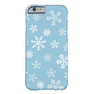 Snow on Light Blue Background Barely There iPhone 6 Case