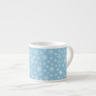 Snow on Light Blue Background Espresso Cup