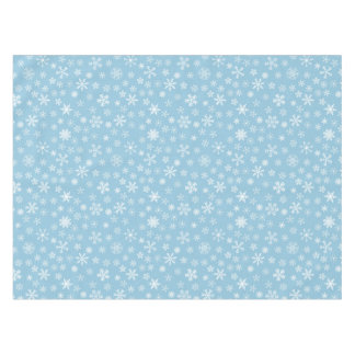 Snow on Light Blue Background Tablecloth