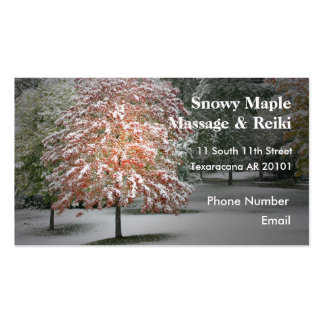 Snow on Maple Trees Business Card Templates