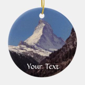 Snow on Matterhorn Mountain Hanging Ornament