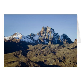 Snow on Mount Kenya Card