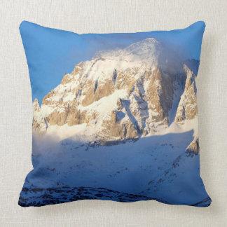 Snow on mountain, California Throw Pillow