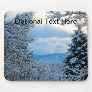 Snow on Pine Trees in Colorado Rocky Mountains Mousepad