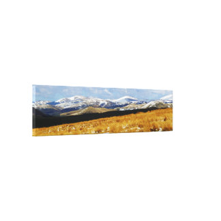 Snow On The Cheviot Hills, Northumberland Canvas Print