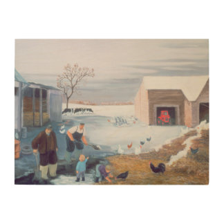 Snow on the Farm Wood Wall Decor