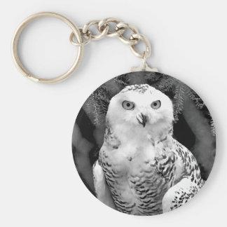 Snow Owl Baby Keychain
