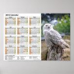 Snow owl calendar 2016 DINA4 Poster