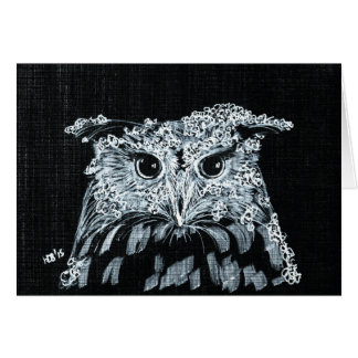 Snow Owl Note Card