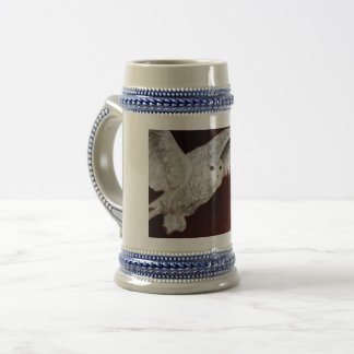 Snow Owl On The Hunt Beer Stein