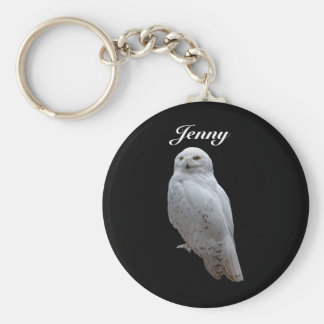 Snow Owl Personalized Key Ring