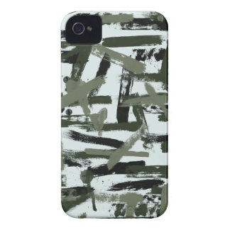 Snow Paint Stroke Camouflage Case-Mate iPhone 4 Case