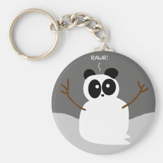 Snow Panda Key Ring