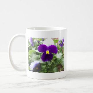 Snow Pansies Mug
