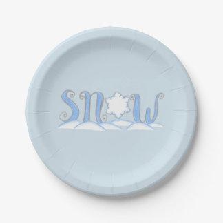 Snow Paper Plates