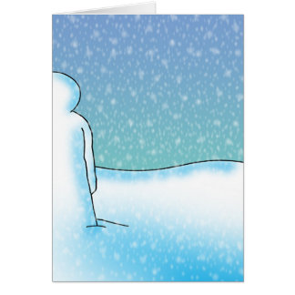 Snow Patience Greeting Card