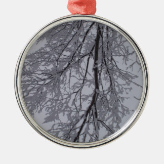 Snow pattern in the trees christmas ornament