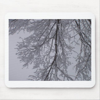 Snow pattern in the trees mouse pad