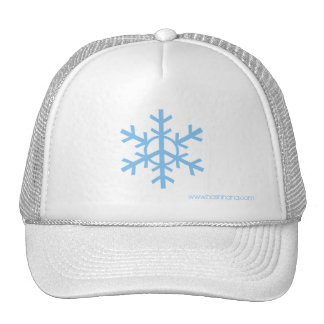 Snow Peace Trucker Hat - light blue logo