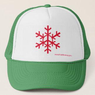 Snow Peace Trucker Hat - red logo