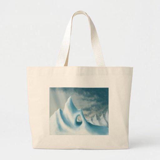 snow peak winter landscape holiday canvas bags