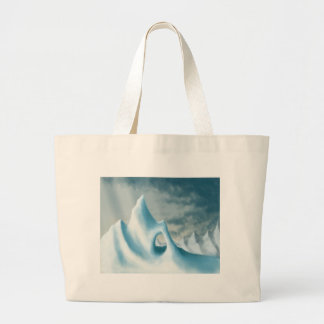 snow peak winter landscape holiday canvas bags