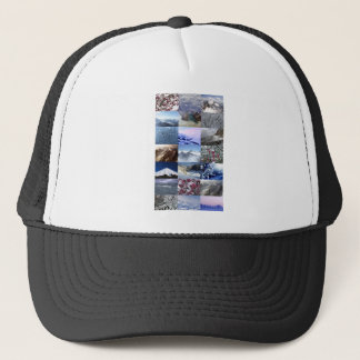 Snow Photo Collage Trucker Hat