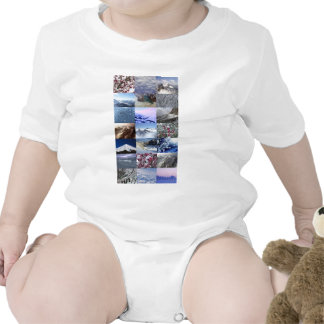 Snow Photo Collage T Shirts