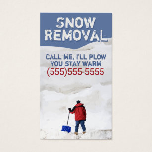 Snow removal service business cards business card printing zazzle uk snow ploughingow removal businessstomisable business card colourmoves