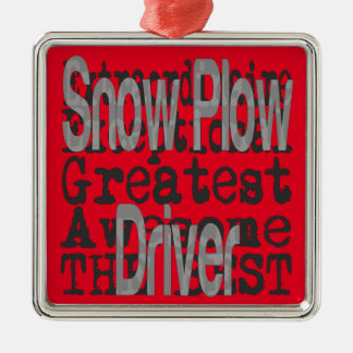 Snow Plow Driver Extraordinaire Christmas Ornament