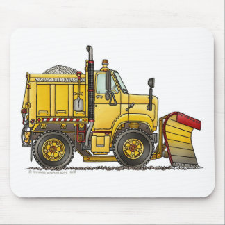 Snow Plow Truck Mouse Pad