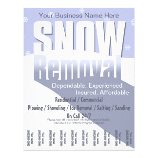 Snow Plowing Service. Removal Business. Flyer Design