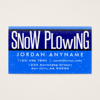 Snow Plowing With Snow Falling Business Card