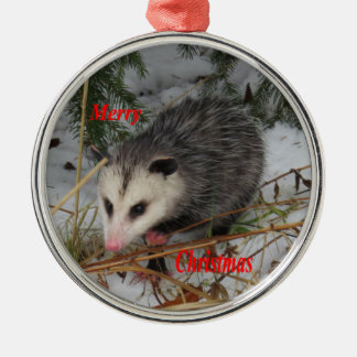 Snow Possum Christmas Ornament