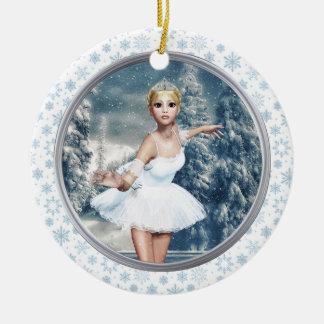 Snow Princess Ballerina Personalized Ornament