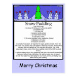 snow pudding, Merry Christmas Post Card