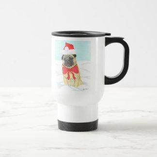 Snow Pug Travel Mug