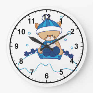 Snow Puppy Winterland Wallclocks