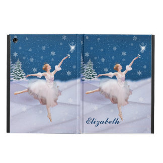 Snow Queen Ballerina, Customizable Name iPad Air Covers