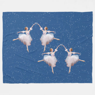 Snow Queen Ballerina Fleece Blanket