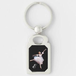Snow Queen Ballerina, Monogram Key Chain