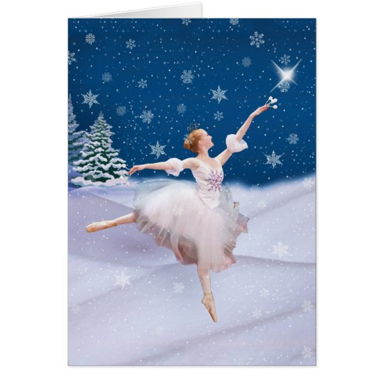 Snow Queen Ballerina  Note or Greeting Card