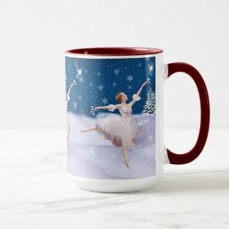 Snow Queen Ballerina, Star, Snowflakes, Mug